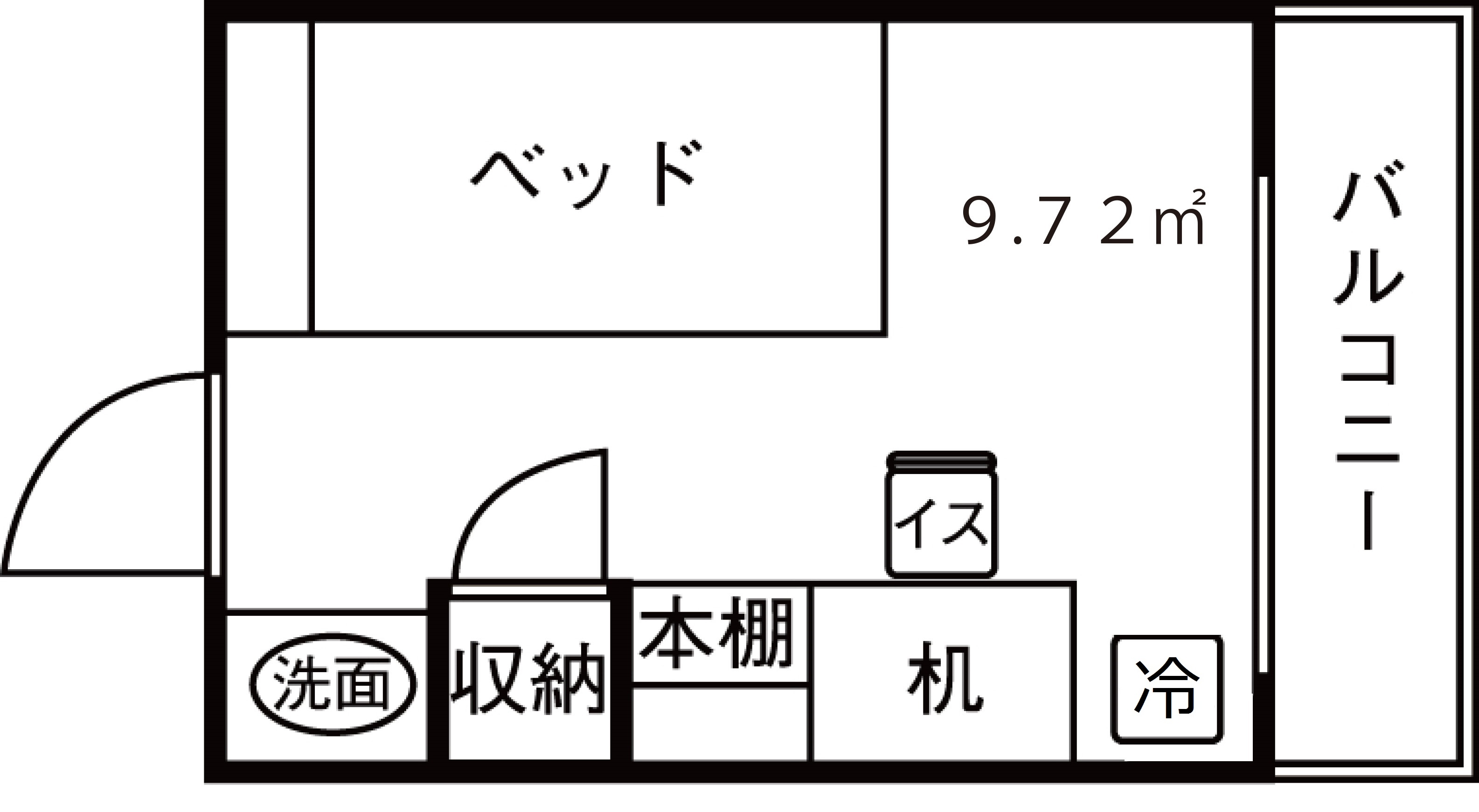 トラスティ田無共通間取りの修正