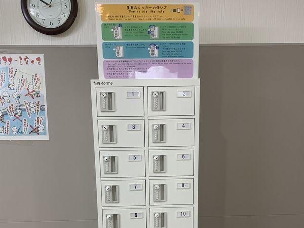 トラスティ田無-Ⅱの脱衣所貴重品ロッカー